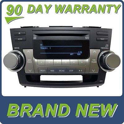 NEW 10 11 12 TOYOTA Highlander Radio Stereo Receiver MP3 CD Player A518AW OEM
