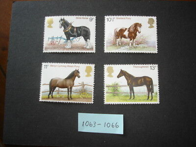 GB Stamps 1978 Horses Set SG1063 - 1066 MNH