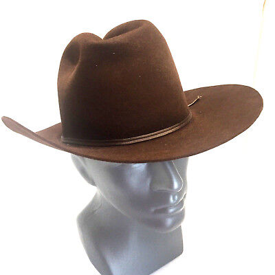 The Roundup Rancher Hat Beaver Quality USA Made Brown 5XXXXX Sz 7 1/2
