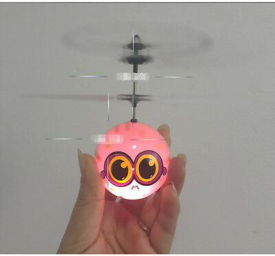 Pink New Induction Aircraft Height 10CM USB Charging Children's Toy Gift  #