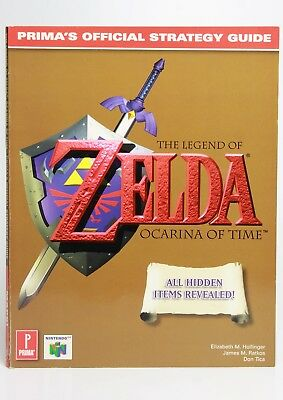 Zelda Ocarina of time official guide book N64 Prima official guide