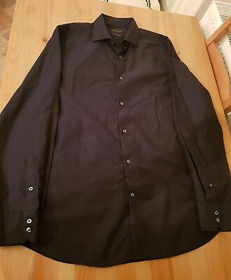 NEXT Signature Collection Dark Blue Shirt Mens Size 16.5 Collar