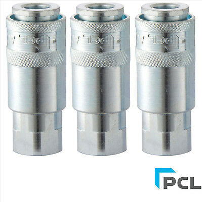 """3 x Genuine PCL Airflow coupling airline fitting 1/4""""BSP Female AC21CF"""