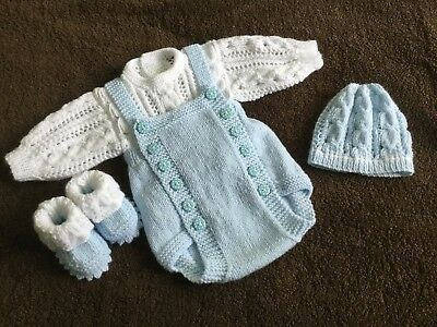 Hand knitted reborn dolls Romper Set 19/20in