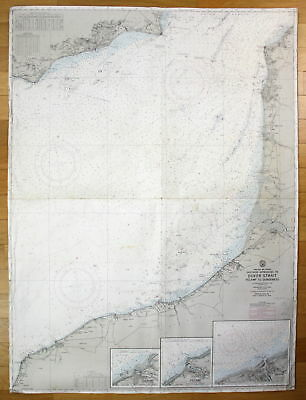 1951 England France Southern Approaches Dover Strait Fecamp to Dungeness map