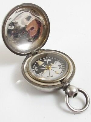 Antique 925 Sterling Silver Compass