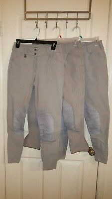 Pikeur Breeches 28L28R Lot Of 3 English Riding Pants