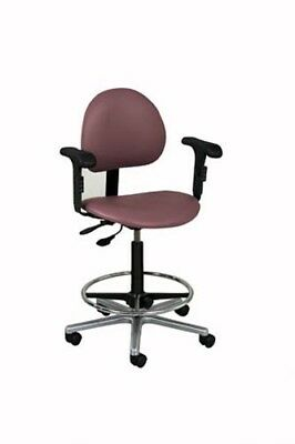 Pro Advantage Lab Stool W/Adjustable Contour Backrest - 23""