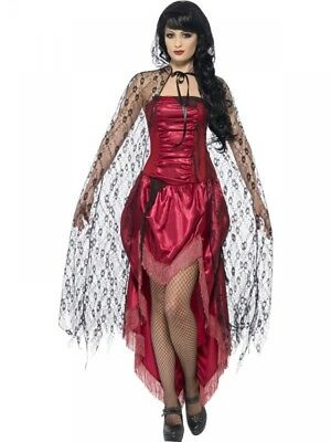 Halloween Gothic Lace Cape - Womens Witch Fancy dress Costume Accessory Vampire
