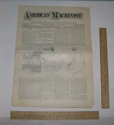 APR 18, 1895 - AMERICAN MACHINIST - Magazine Back Issue - VOL 18, No 16 - As Is