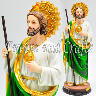 Saint Jude Statue San Judas Tadeo Estatua Catholic Figurine Santo Thaddeus Resin