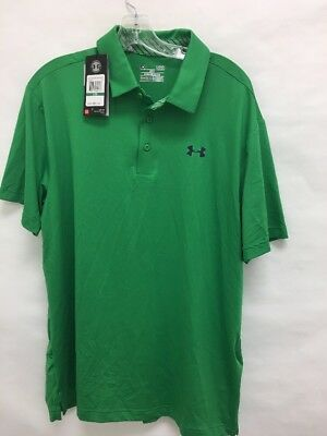 NWT Under Armour Elevated Heather Playoff Golf Polo Green Men's Sz L (BR)
