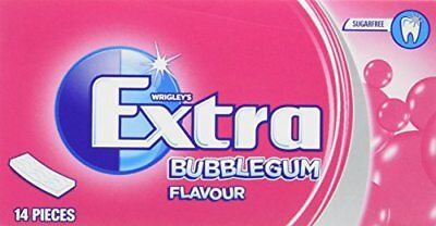 Wrigley s Extra Bubblegum Flavour Sugarfree Chewing Gum 14 Pieces x 12