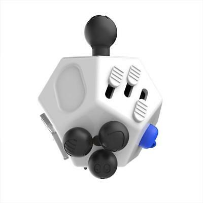 New Adult Fidget Cube 12 Side Sided Desk Toy Stress Anxiety Relief Focus Puzzle