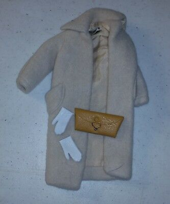 Vintage Barbie Minty condition Wool ? Coat with purse and gloves