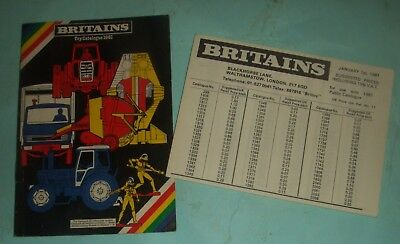 Britains Toy Catalogue 1981 With Price List.