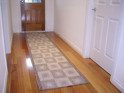 Hallway Runner Hall Runner Rug Modern Beige Brown 7 Metres Long FREE DELIVERY