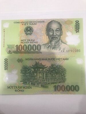 1 x 100,000 100000 Vietnam Dong Uncirculated