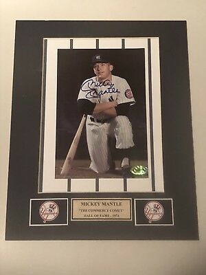 Mickey Mantle  Autographed 5x7 Photo In A 8x10 Matt .....Certified