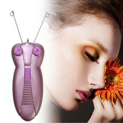 Electric Electronic Eyebrow Threading Epilator Body Face Threader Hair Remover