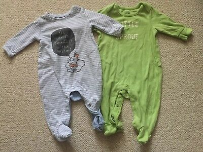 Baby Gap Baby Boy 2 One Piece Outfit / Pajamas Size 0-3 M