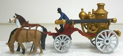 HO HOn3 Horse Drawn Steam Boiler Fire Engine and Driver Figure