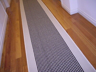 Hallway Runner Hall Runner Rug Modern Cream Brown 5 Metres Long FREE DELIVERY