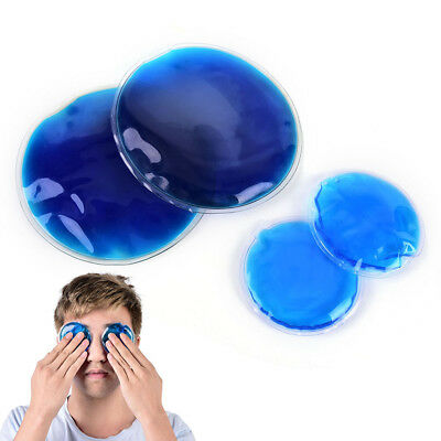 2Pcs Round Reusable Ice Cold Gel Pack Therapy Microwaveable Heat Pain Relief DK