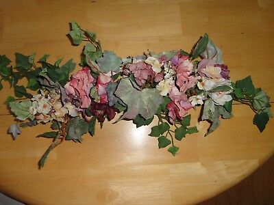 4 Your Home Interiors  26'' Mixed Mauve Flowers '' Swag/ Accents