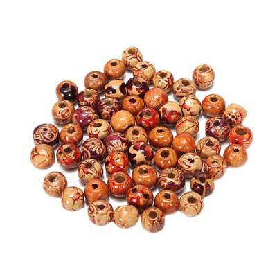 100pcs Mixed Large Hole Wooden Beads for Macrame Jewelry Charms Crafts 2017