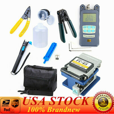 18-in-1 Fiber Optic FTTH Tool Kit Set Power Meter FC-6S Optical Cleaver Finder