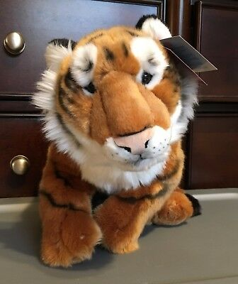 "FAO Schwartz Lifelike Tiger Cub Plush! 22"" Stuffed Toy Lovey Realistic"
