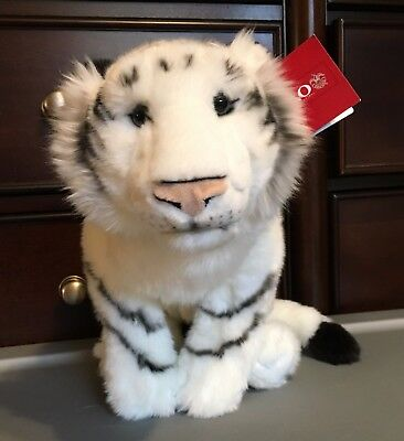 "FAO Schwartz Lifelike White Tiger Cub Plush! 22"" Stuffed Toy Lovey Realistic"