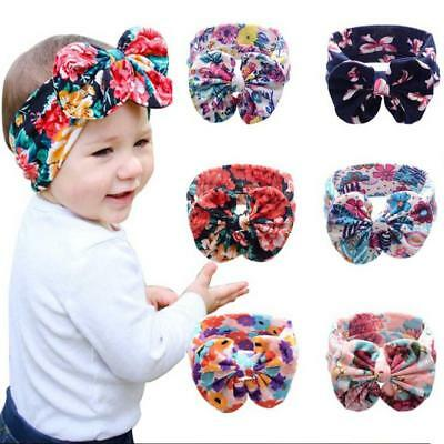 Sweet Baby Girls Fashion Elastic Bowknot Headband Hair Band Bohemia Headdress