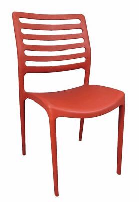 Bulk Lot 24 x New Red CHAIRS Stackable Restaurant Seat Dining Chair Louise