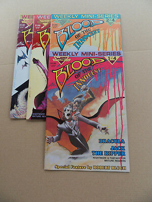 Blood Of The Innocent 1 - 4 . Lot Complet . Warp Graphics  1985 . VF - minus