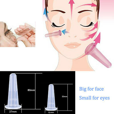 Mini Facial Face Eyes Silicone Cupping Vacuum Suction Lifting Massage Cup Ageing
