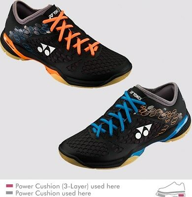Yonex Power Cushion 03 LCW Badminton Shoes SHB03LCW Orange/Blue, Fit & Stability