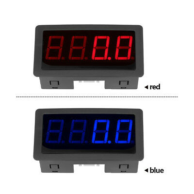 "4 Digital Red/ Blue 0.56"" LED Tachometer RPM Speed Meter with Hall Sensor NPN"