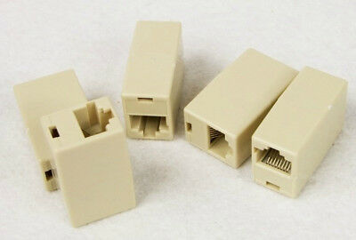 10pcs RJ45 CAT5 Coupler Plug Network LAN Cable Extender Connector Adapter