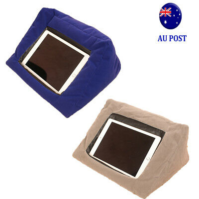 """Cushion Stand Portable Tablet Pillow beanbag 9.4"""" Wide For iPad iPad Air MN"""