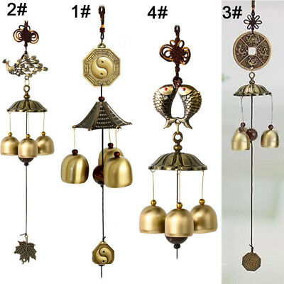 Lucky Feng Shui Chinese Bells Hanging Wind Chimes Yard Garden Outdoor Decor Gift