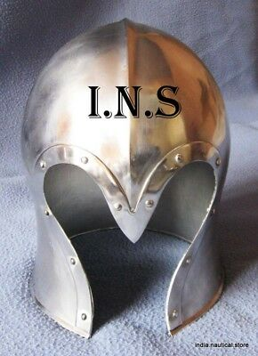Medieval Armour Brass Corinthian Greek Helmet by Larp Armory
