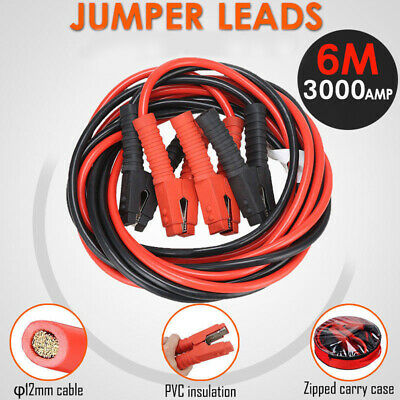 3000AMP Jumper Leads 6M Long Heavy Duty Jump Booster Cables AU