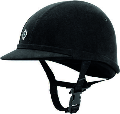 Charles Owen Yr8 Black Size 6 1/2 (53Cm) Horse Riding Helmet Hat Protection