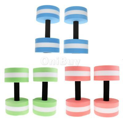 3 Pairs Water Aerobics DUMBBELLS Aqua Water Fitness Resistance Pool Exercise