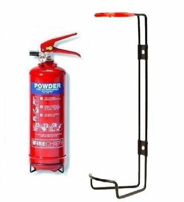 New 1Kg Fire Extinguisher Home Office Car Kitchen Dry Wall Bracket Safety Home