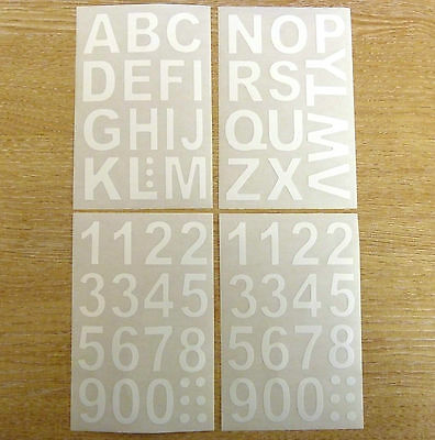 24mm White Sticky Vinyl Letters or Numbers Stickers Self-Adhesive Plastic Labels