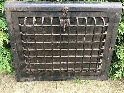 Cast Iron Louvered Window Grate Antique Architecture Garden Basement Floor Heat