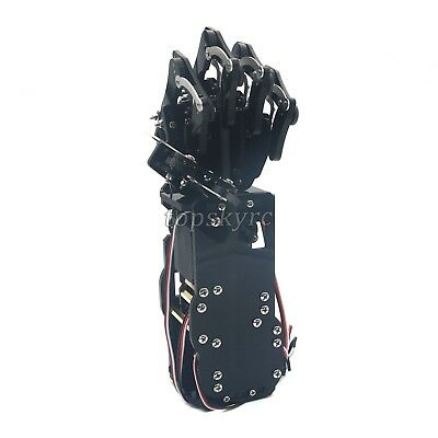 Robot Mechanical Arm Claw Humanoid Left Hand with Servos for Robotics Assembled